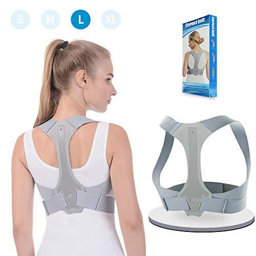 Neopren Körperhaltung Korrektor Obere Rückenstütze Schultergurt Männer
